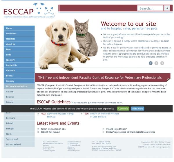 EUROPEAN SCIENTIFIC COUNCIL COMPANION ANIMAL PARASITES - NOV 2011 - Traitement et prévention des parasitoses des carnivores dome