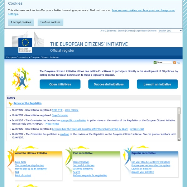 Homepage - European Citizens' Initiative