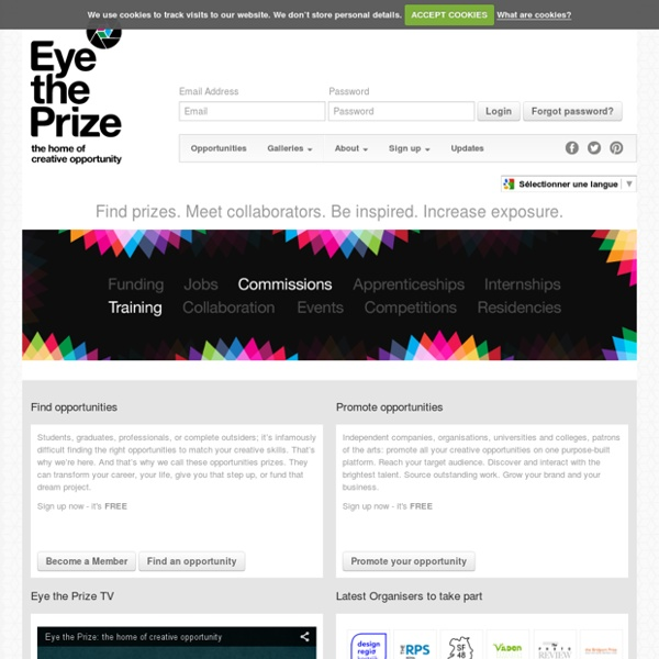 Homepage - Eye the Prize