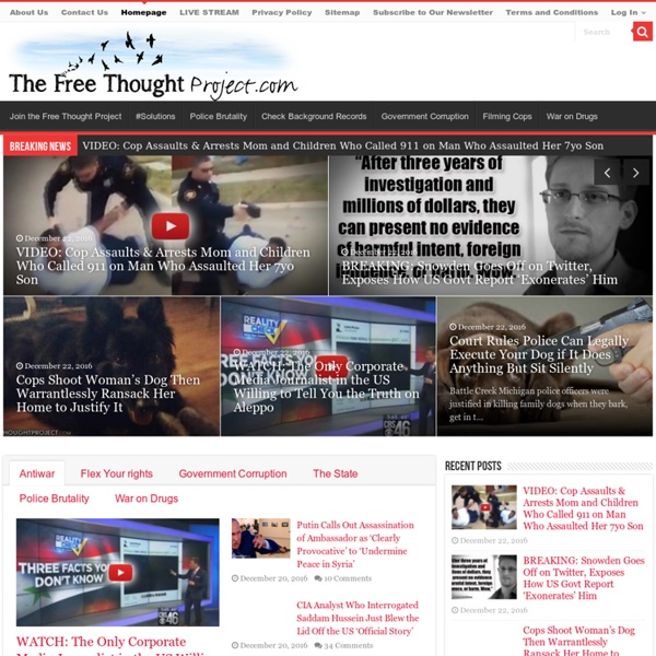 Homepage - The Free Thought Project