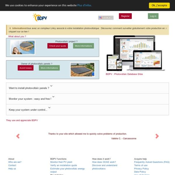 BDPV - Accueil - Guide du Photovoltaïque