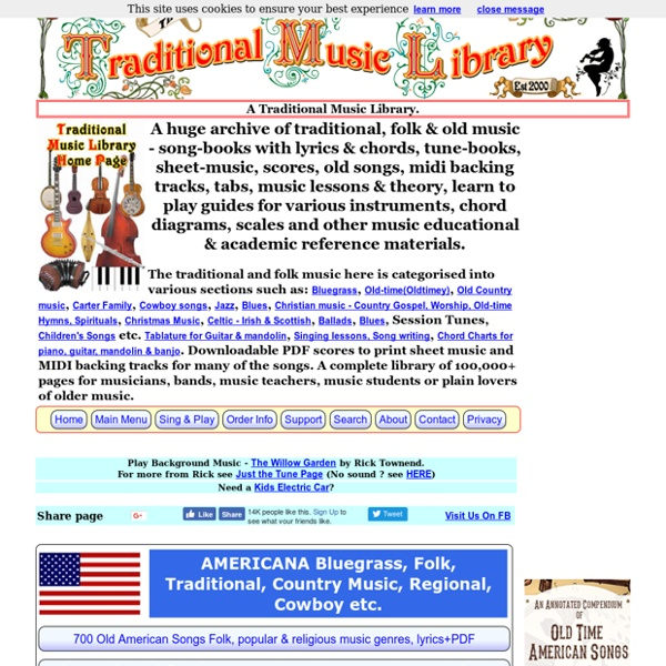 A Traditional Music Library of folk music, tune-books, songbooks and sheet music