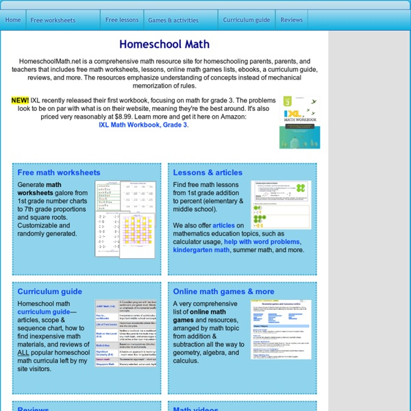 math worksheet : homeschool math  free math worksheets lessons ebooks  : Homeschooling Math Worksheets
