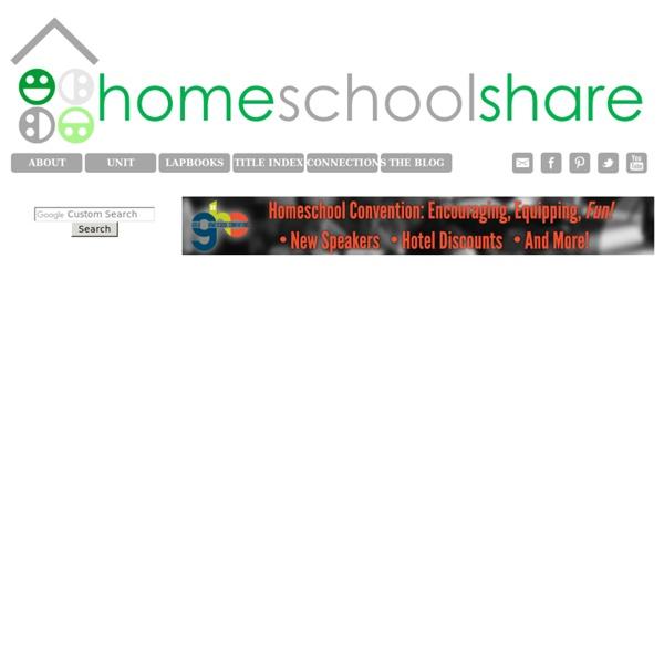 Homeschool Share Lapbooks and Unit Studies