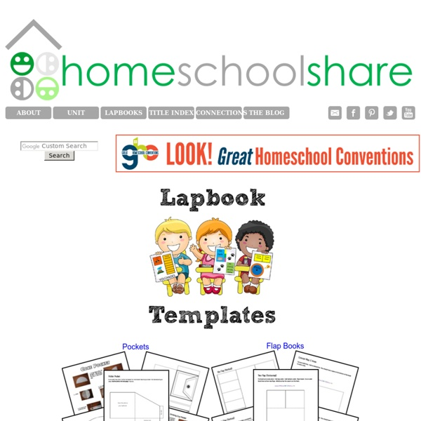 FREE Lapbook Templates from Homeschool Share | Pearltrees