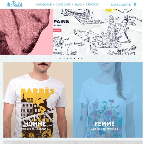 Monsieur Poulet - Le site participatif de T-shirts en coton équi