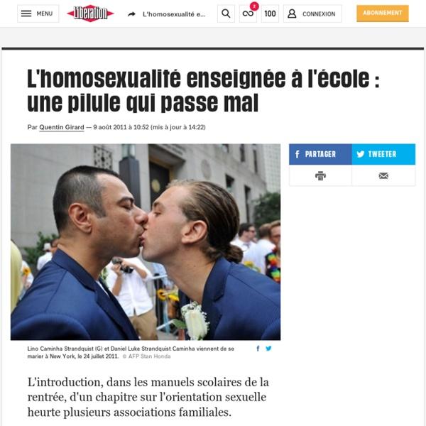 L'homosexualité enseignée à l'école : une pilule qui passe mal