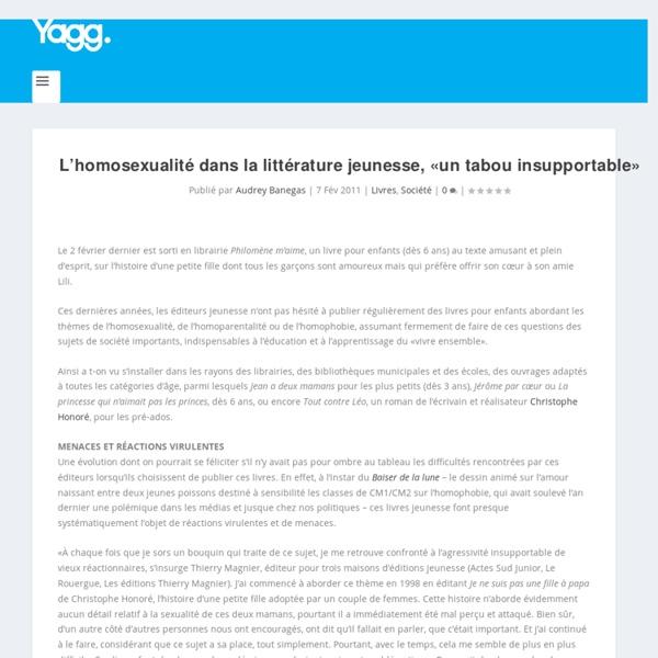L'homosexualité dans la littérature jeunesse, «un tabou insupportable»