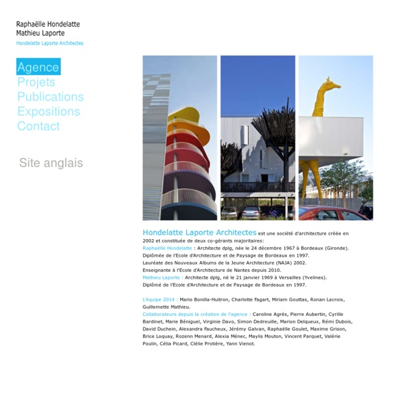 Raphaelle Hondelatte Mathieu Laporte Architectes