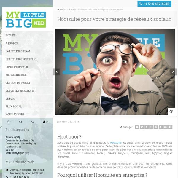 Hootsuite pour votre stratégie de réseaux sociaux