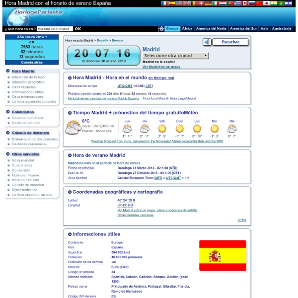Hora local Madrid España ES