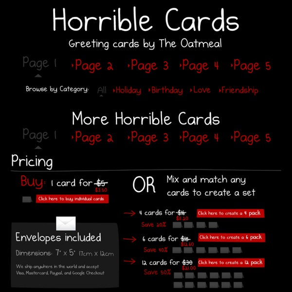 Horrible Cards - Greeting Cards by The Oatmeal