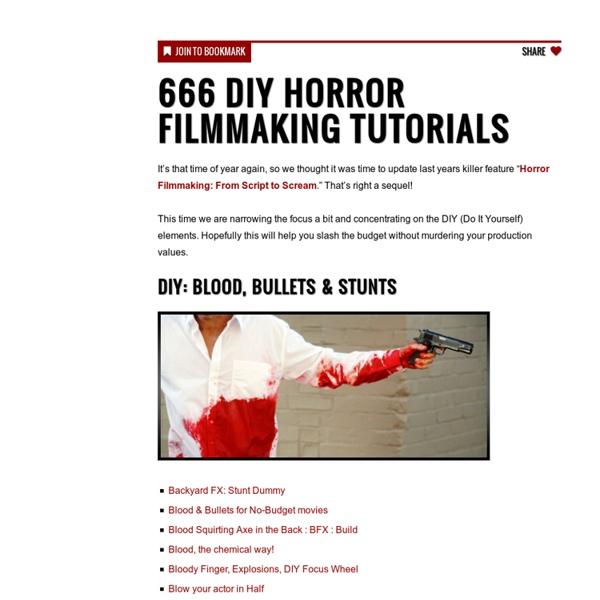 666 DIY Horror Filmmaking Tutorials