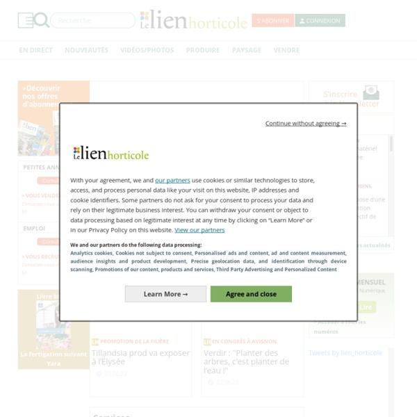 Le Lien Horticole - le média des métiers de l'horticulture et du paysage