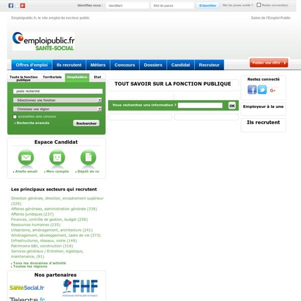 Emploi, infos, concours dans la Fonction Publique Hospitalière - Emploipublic.fr