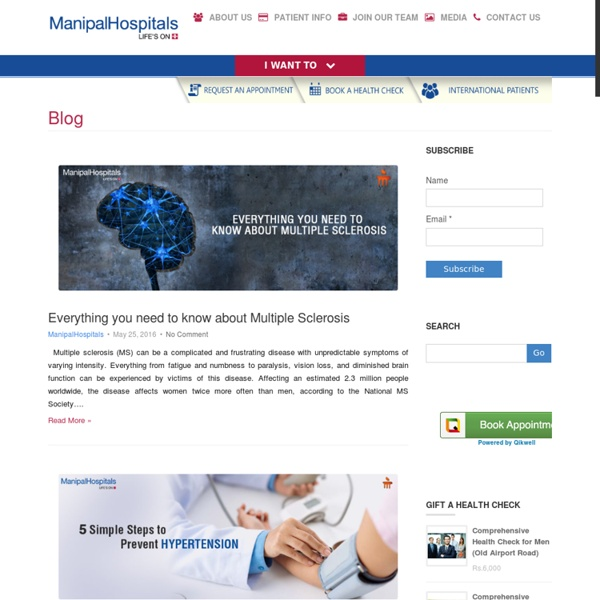 Manipal Hospitals Blog - Latest Healthcare News and Articles