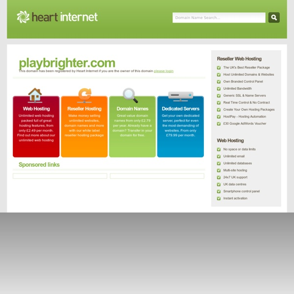 Welcome – Play Brighter