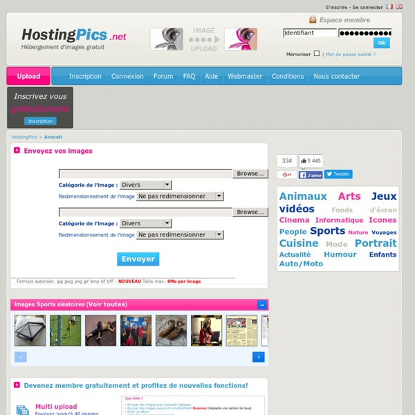 HostingPics - Hébergement d'images et photos gratuit Upload
