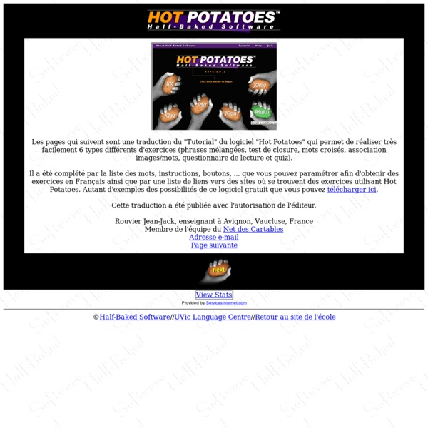 Hot Potatoes Tutorial: Index