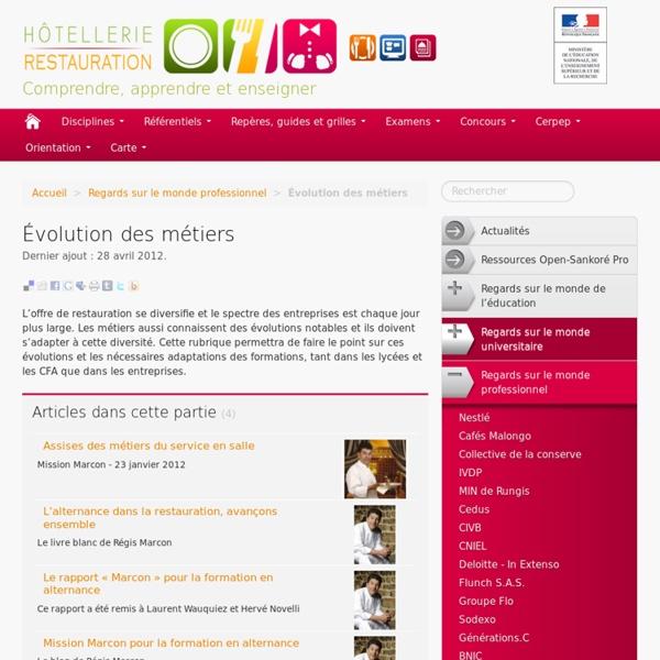 Centre de ressources nationales Hôtellerie Restauration