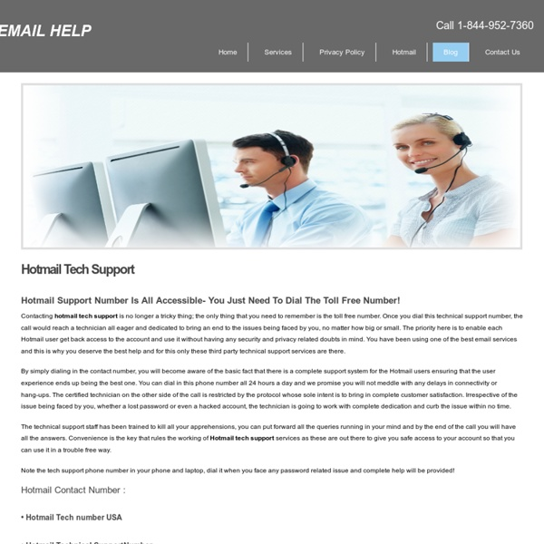Hotmail Tech Support Toll Free Number