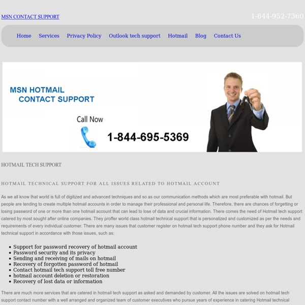 Hotmail Tech Support for Customer Service