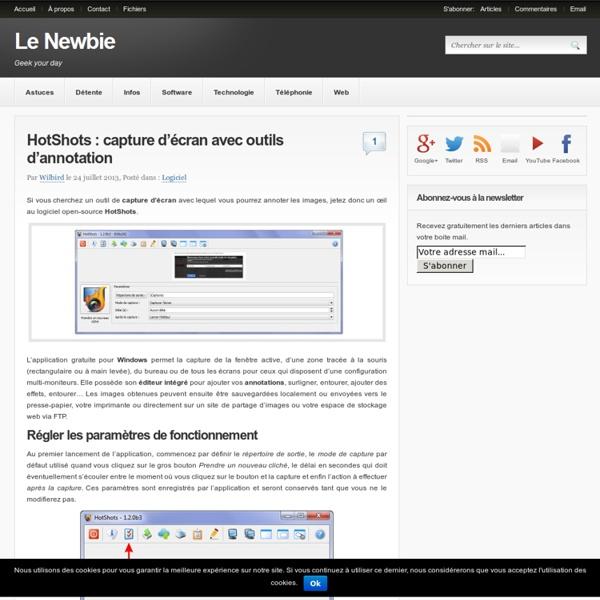 HotShots : capture d'écran avec annotations