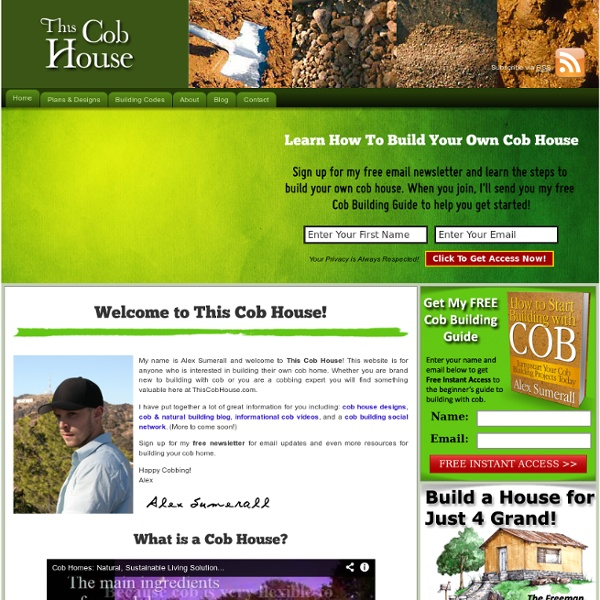 Cob House Designs & Natural Building - This Cob House
