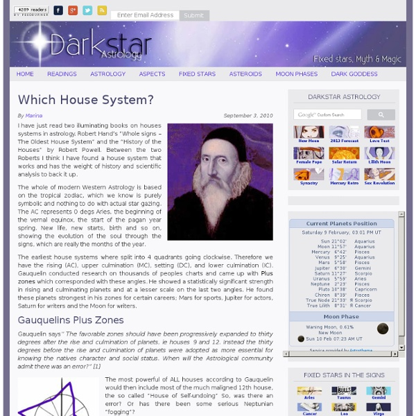 House System Astrology - Which House System?
