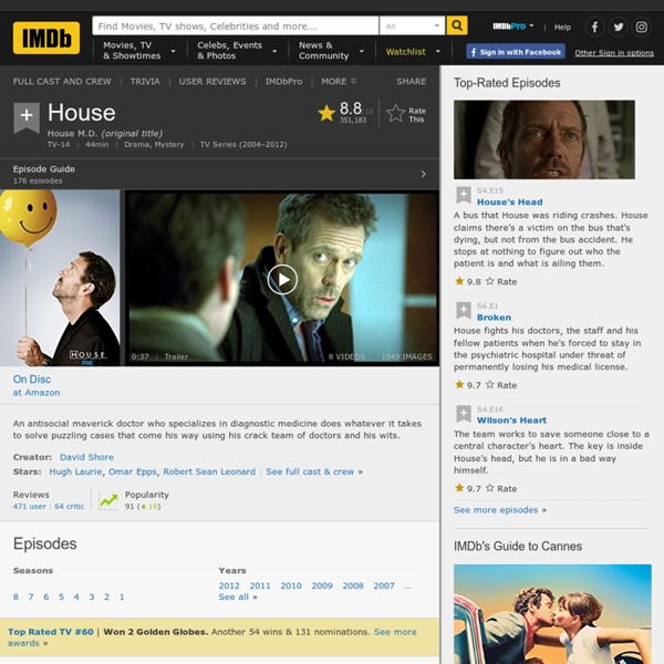 House M.D. (TV Series 2004–2012)