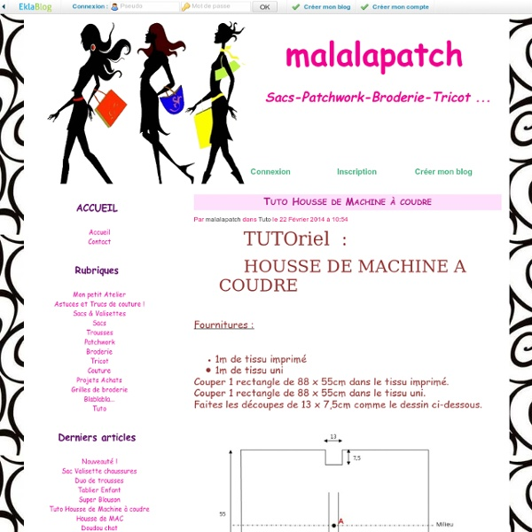 Tuto housse de machine coudre malalapatch pearltrees - Housse de machine a coudre ...