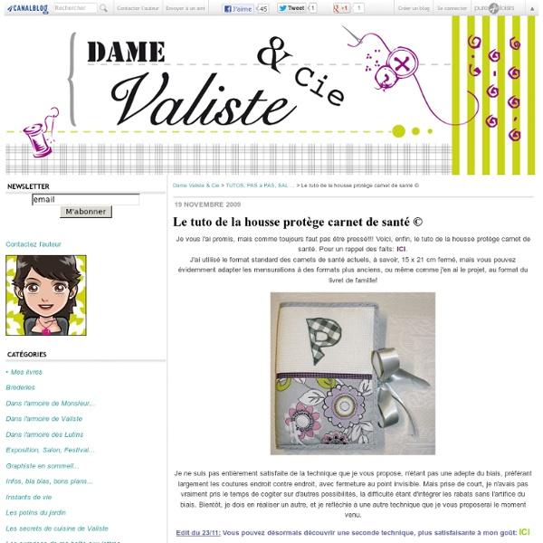 Le tuto de la housse protège carnet de santé © - Dame Valiste & Cie