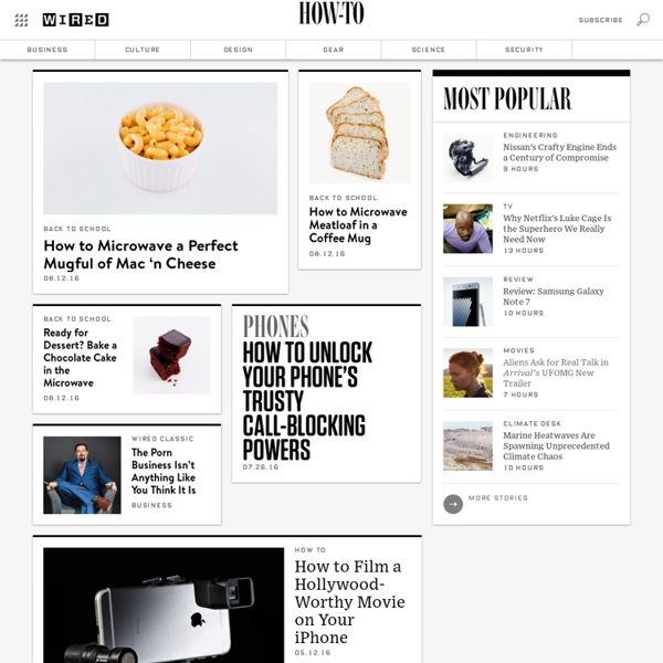 Main Page - Wired How-To Wiki