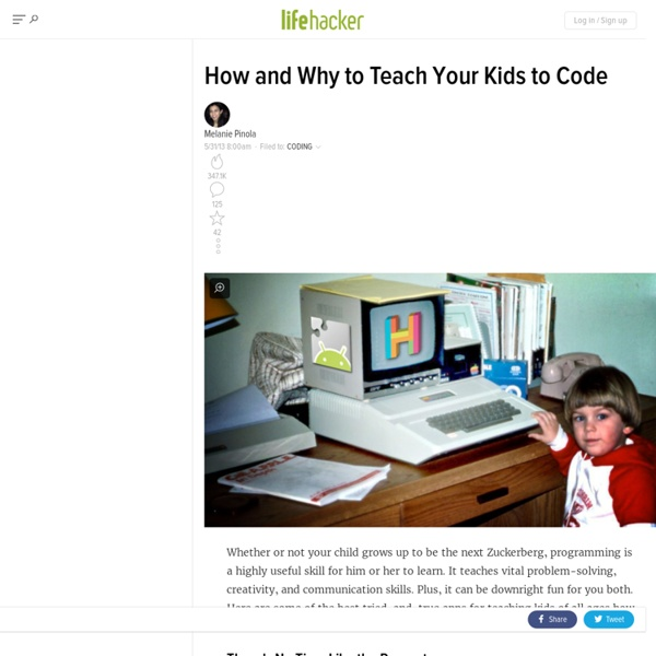 How & Why Teach Kids to Code