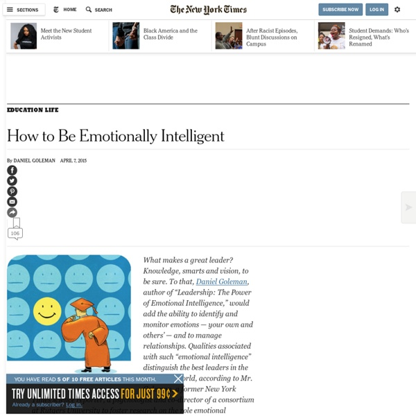 How to Be Emotionally Intelligent
