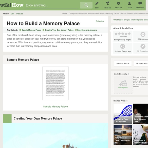 How to Build a Memory Palace (with Sample)