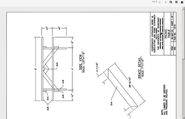 Free Picnic Table Plans (PDF)