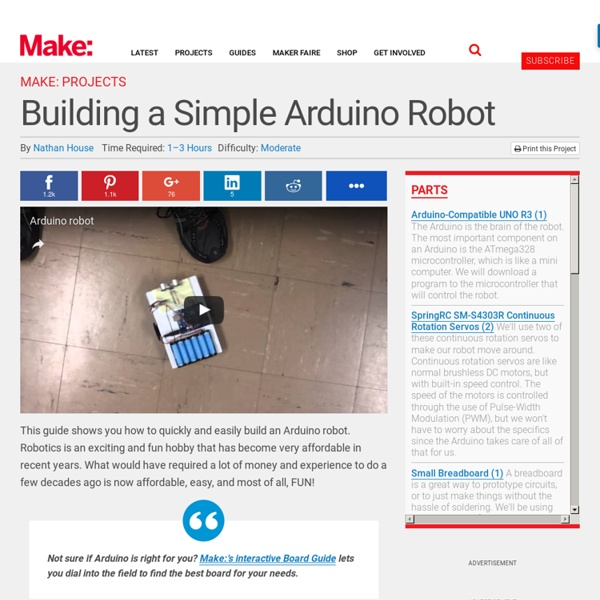 how to build a simple robot for beginners