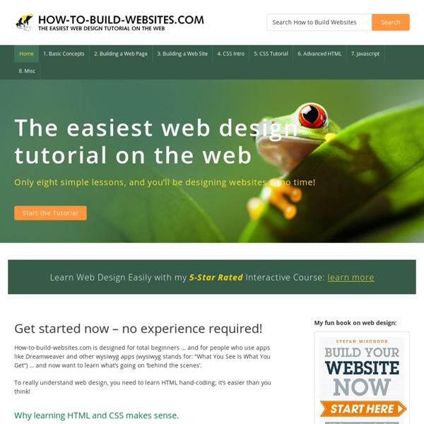 Beginners Web Design Tutorial - How-to-build-websites.com