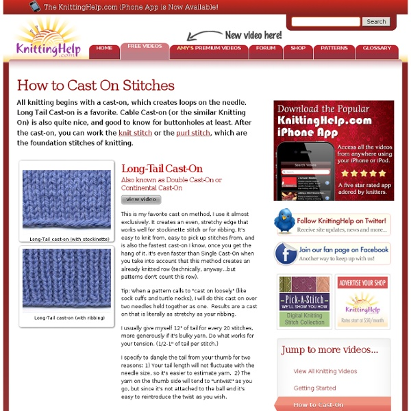 Casting On Stitches