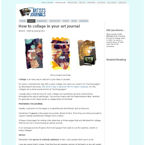How to Collage in Your Art Journals