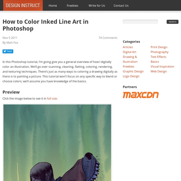 How to Color Inked Line Art in Photoshop