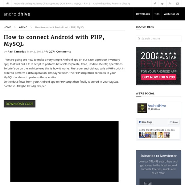 How to connect Android with PHP, MySQL