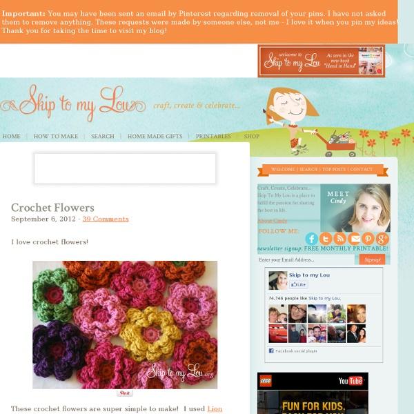 How to crochet a flower
