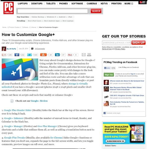 How To Customize Google+