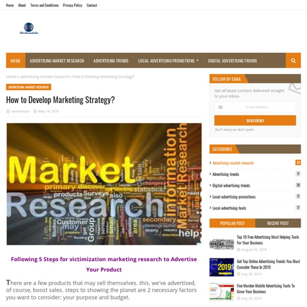 How to Develop Marketing Strategy?