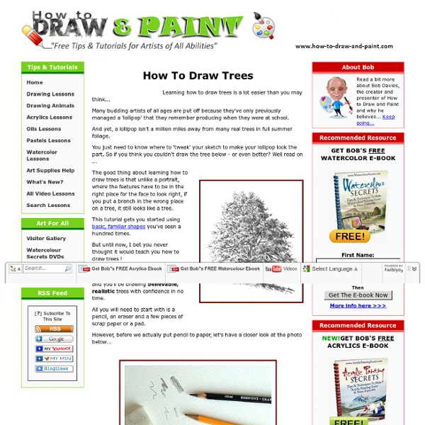 How To Draw Trees - Quickly & Easily