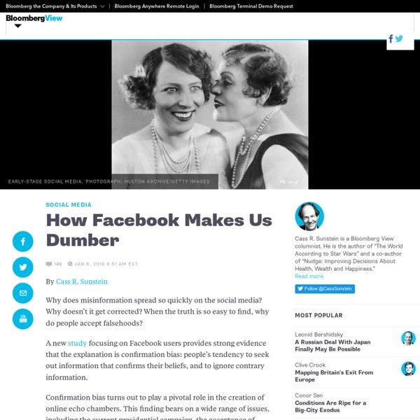 How Facebook Makes Us Dumber