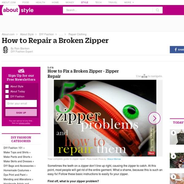 How to Fix a Broken Zipper - Zipper Repair