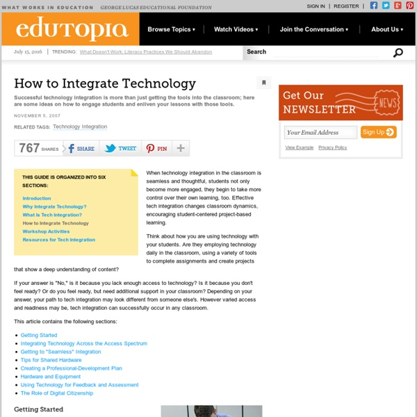 How to Integrate Technology